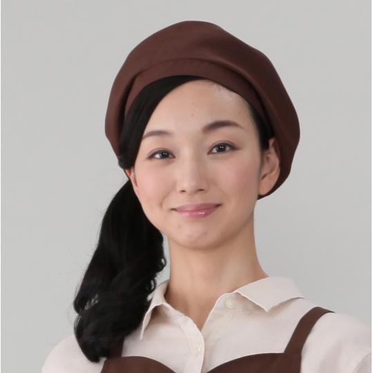 ベレー帽(E100%)[茶]
